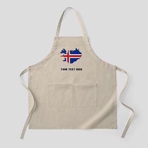Icelandic Flag Silhouette (Custom) Apron