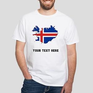 Icelandic Flag Silhouette (Custom) T-Shirt