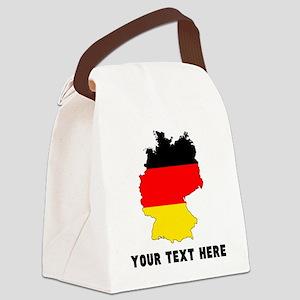 German Flag Silhouette (Custom) Canvas Lunch Bag