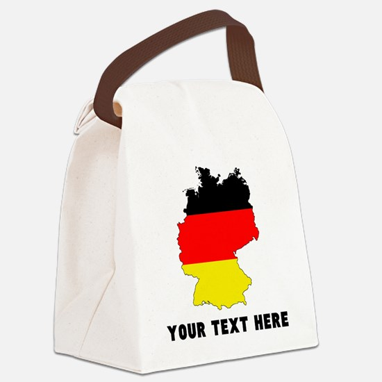 German Flag Silhouette (Custom) Canvas Lunch Bag