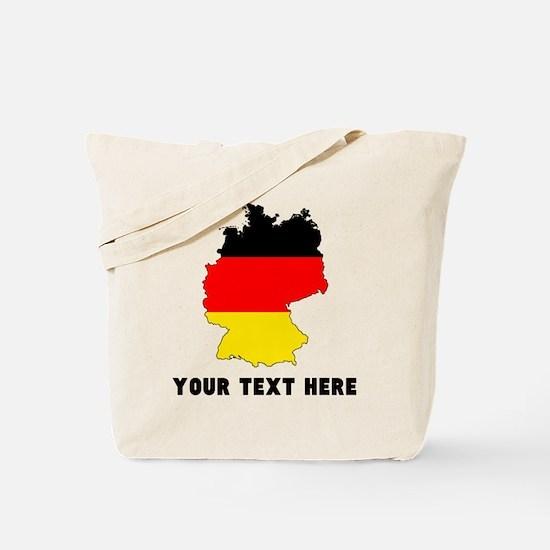 German Flag Silhouette (Custom) Tote Bag