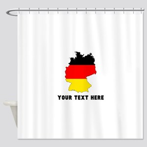 German Flag Silhouette (Custom) Shower Curtain