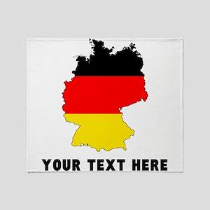 German Flag Silhouette (Custom) Throw Blanket
