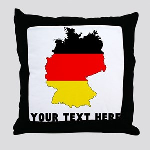 German Flag Silhouette (Custom) Throw Pillow