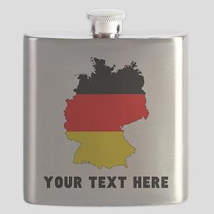 German Flag Silhouette (Custom) Flask