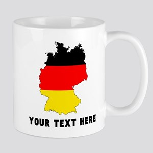 German Flag Silhouette (Custom) Mugs