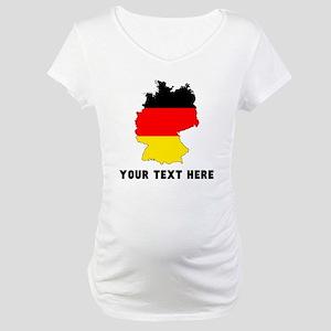 German Flag Silhouette (Custom) Maternity T-Shirt