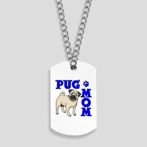 PUG MOM Dog Tags