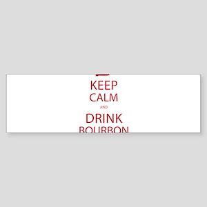 Keep Calm and Drink Bourbon Bumper Sticker