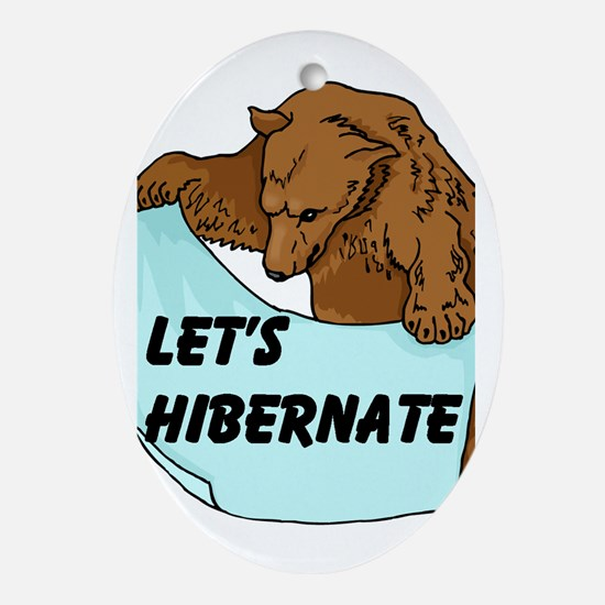HIBERNATE Oval Ornament