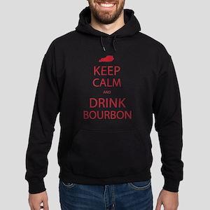 Keep Calm and Drink Bourbon Hoodie (dark)