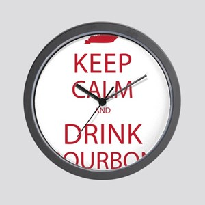Keep Calm and Drink Bourbon Wall Clock
