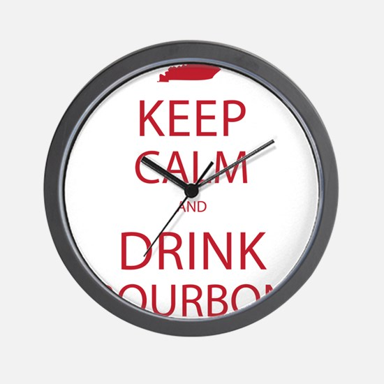 Keep Calm and Drink Bourbon Wall Clock
