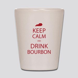 Keep Calm and Drink Bourbon Shot Glass