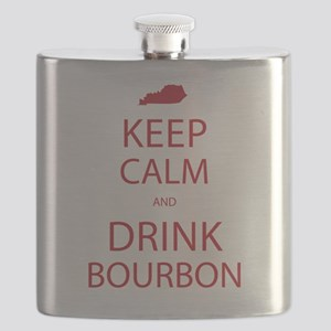 Keep Calm and Drink Bourbon Flask