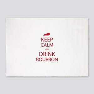 Keep Calm and Drink Bourbon 5'x7'Area Rug