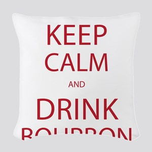 Keep Calm and Drink Bourbon Woven Throw Pillow