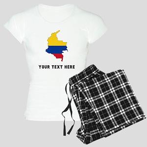 Colombian Flag Silhouette (Custom) Pajamas