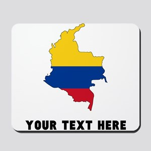 Colombian Flag Silhouette (Custom) Mousepad