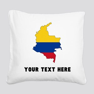 Colombian Flag Silhouette (Custom) Square Canvas P