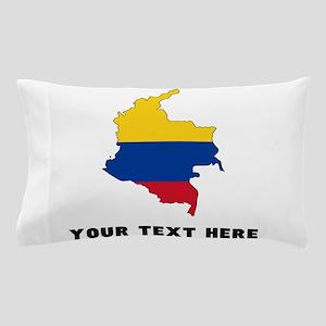 Colombian Flag Silhouette (Custom) Pillow Case
