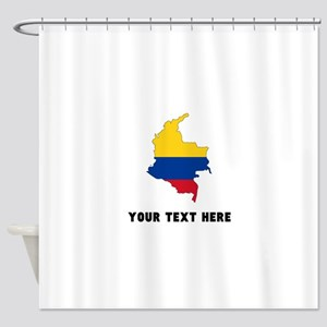 Colombian Flag Silhouette (Custom) Shower Curtain