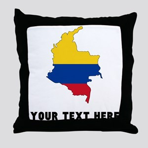 Colombian Flag Silhouette (Custom) Throw Pillow