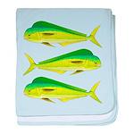 Mahi-Mahi Dolphinfish 3 baby blanket