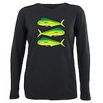 Mahi-Mahi Dolphinfish 3 Plus Size Long Sleeve Tee