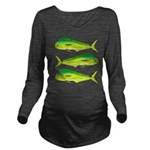 Mahi-Mahi Dolphinfish 3 Long Sleeve Maternity T-Sh