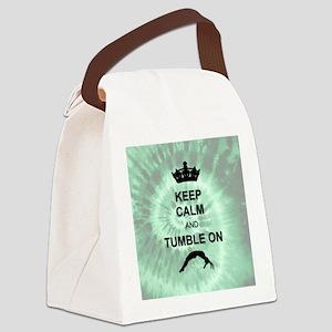 Green Tye dye Gymnast Canvas Lunch Bag