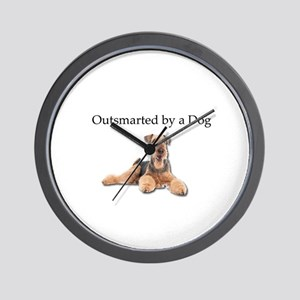 Airedales: Outsmarted by a Dog Wall Clock
