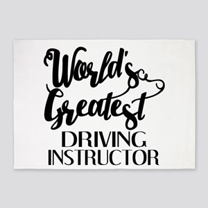 World's Greatest Driving Instructor 5'x7'Area Rug