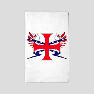 Templar Republic Flag Area Rug