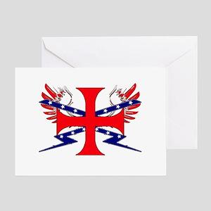 Templar Republic Flag Greeting Card