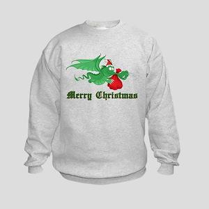 Christmas Dragon Kids Sweatshirt