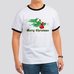 Christmas Dragon Ringer T