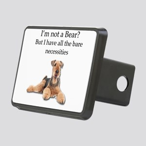 Airedale Surprised He Isn' Rectangular Hitch Cover