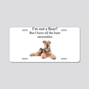 Airedale Surprised He Isn't Aluminum License Plate