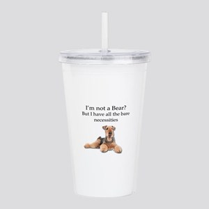 Airedale Surprised He Acrylic Double-wall Tumbler
