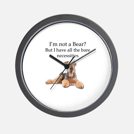 Airedale Surprised He Isn't a Bear Wall Clock