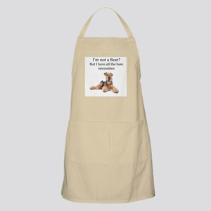 Airedale Surprised He Isn't a Bear Apron