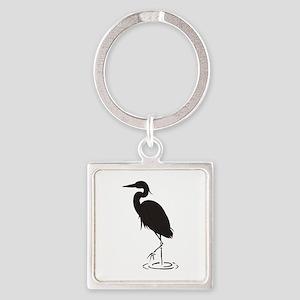 Heron Silhouette Keychains