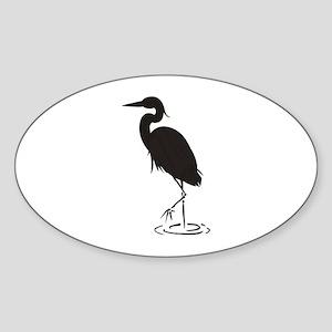 Heron Silhouette Sticker