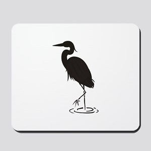 Heron Silhouette Mousepad