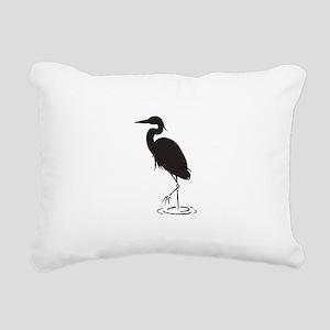Heron Silhouette Rectangular Canvas Pillow