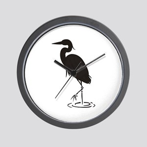 Heron Silhouette Wall Clock