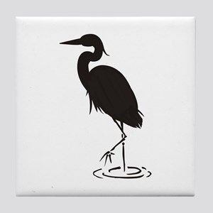 Heron Silhouette Tile Coaster