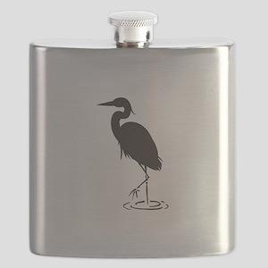 Heron Silhouette Flask