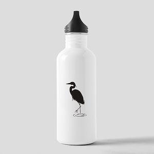 Heron Silhouette Water Bottle
